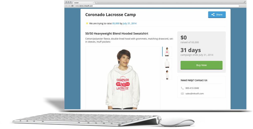 Fundraising web store