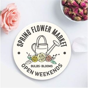 Custom Printed Round Absorbent Stone Coaster - Basic Print