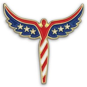 Angel U.S. Flag Pin - Patriotic Lapel Pins