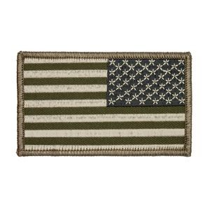 Reversed Green U.S. American Flag Patch