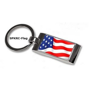 Stock USA Flag Key Tag