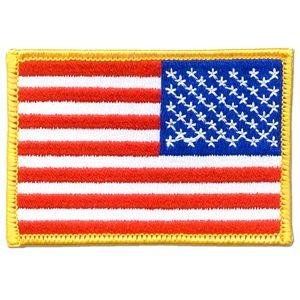 Reverse American U.S. Flag Patch - Embroidered