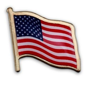 American Flag Lapel Pin - Made in USA