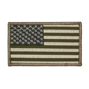 Green U.S. American Flag Patch