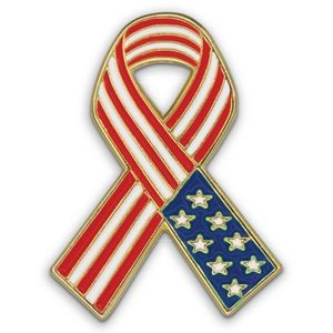 American Flag Ribbon - Patriotic Lapel Pins