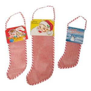 "Santa Topper for 32"" Empty Red Mesh Stocking"
