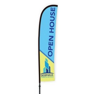 "Small Double Sided Blade Wind Flutter Flag (26""x79"")"
