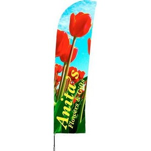 "Medium Double Sided Blade Wind Flutter Flag (28""x118"")"