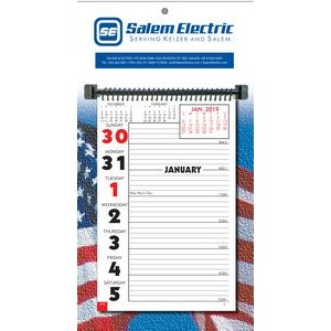 Stock Almanac Week-at-a-Glance Memo Wall Calendar (Patriotic)