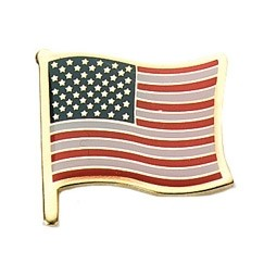 Stock Patriotic United States Flag 1""