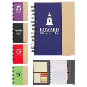 Eco Magnetic Notebook w/Sticky Notes and Flags & Pen
