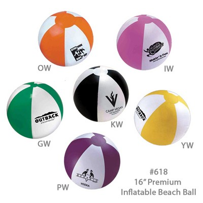 "16"" Inflatable Beach Ball - All Colors"