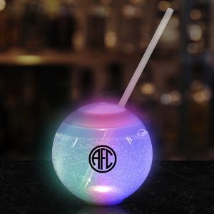 20 Oz. Multicolor LED Ball Tumbler w/Straw