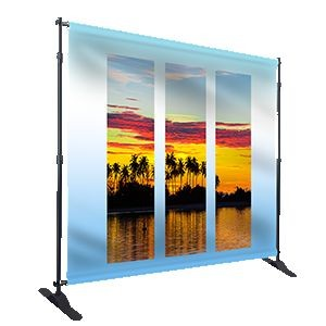 Back Drop Sublimation Fabric with Stand 8-9-10 feet