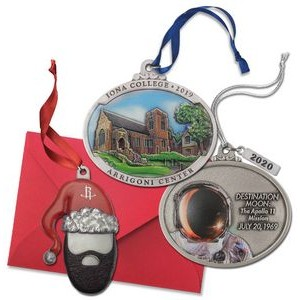Custom Pewter Full Size 3D Gallery Print Ornament w/3D IMC Express®