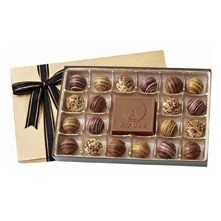 20 Piece Gift Box of Chocolates w/ Chocolate Centerpiece