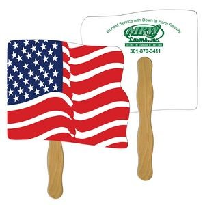 Flag Fast Hand Fan (2 Sides) 1 Day