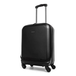 Business Hardside 2 in 1 Carry on with Duffle Compartment Black