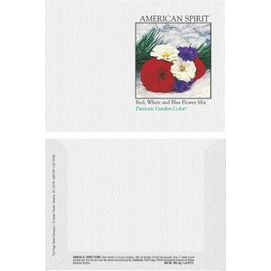 Impression Series American Spirit Flower Seeds - Digital Print/ Packet Front & Back Imprint