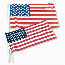 3x5 Cloth USA Flags