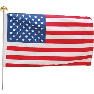 3'x5' US Flag Kit w/ Aluminum Pole