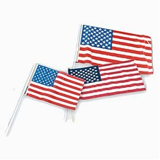 "4""x6"" Plastic USA Flags"