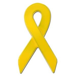 Yellow Awareness Ribbon Lapel Pin
