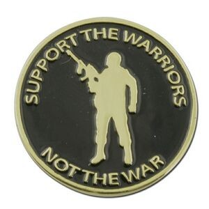 Support The Warriors Lapel Pin