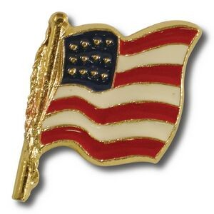 Cast American Flag Lapel Pin