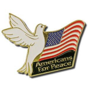 American's For Peace Lapel Pin