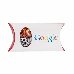 Pillow Box with Window - Chocolate Sport Balls