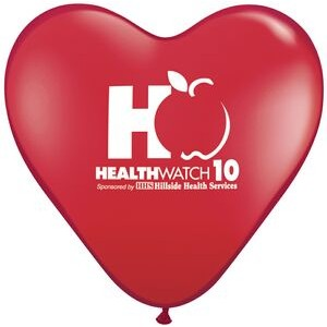 "15"" Qualatex Heart Standard Color Latex Balloon"