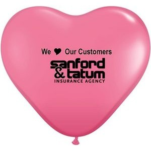 "15"" Qualatex Heart Jewel/ Fashion Color Latex Balloon"