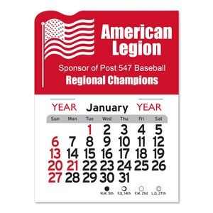 American Flag Peel-N-Stick Multi-Use Calendar