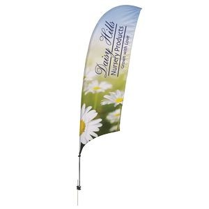 Promotional Value-Line Feather Flag w/ 10 1/2' Spike Base (1 sided)