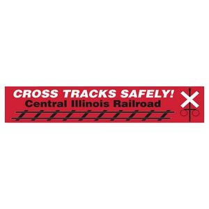 Rectangle Vinyl Ultra Removable Zip-Strip Bumper Sticker (2 3/4