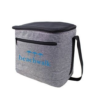 Gray cooler bag for tall sports bottles & holds up to 16 cans