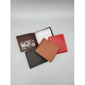 Business Leather 5 Pocket Thin Fold Wallet