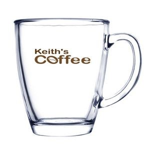 12 Oz. Glass Coffee Mug (Deep Etch)