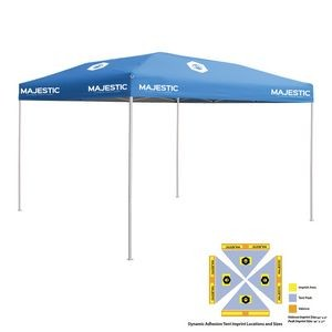 10' x 10' Blue Economy Tent Kit, Full-Color, Dynamic Adhesion (10 Locations)