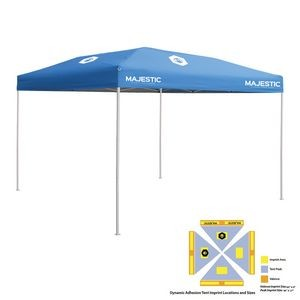 10' x 10' Blue Economy Tent Kit, Full-Color, Dynamic Adhesion (4 Locations)