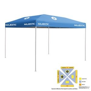 10' x 10' Blue Economy Tent Kit, Full-Color, Dynamic Adhesion (6 Locations)