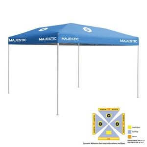10' x 10' Blue Economy Tent Kit, Full-Color, Dynamic Adhesion (9 Locations)