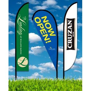 Zoom 5 Straight Flag w/ Stand - 15.7ft Single Sided Graphic