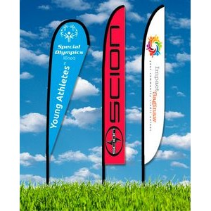 Zoom 6 Feather Flag w/ Stand - 19.7ft Single Sided Graphic