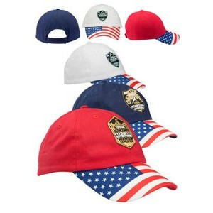 Patriotic 6 Panel Unconstructed Baseball Caps
