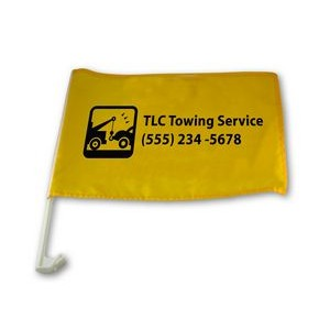 Basic Car Flag 75D 1 ply Upgraded Basic Pole (Super Saver)