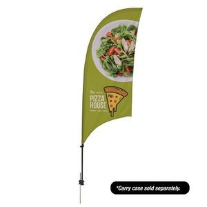 7.5' Value Razor Sail Sign - 1-Sided with Ground Spike