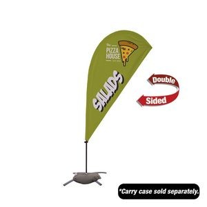 6.5' Value Teardrop Sail Sign - 2-Sided with Cross Base