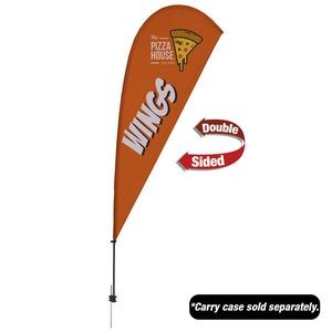 9.5' Value Teardrop Sail Sign - 2-Sided with Ground Spike